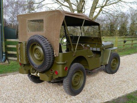1943 Willys JEEP1-5 HP,  Generál Eisenhower na prodej