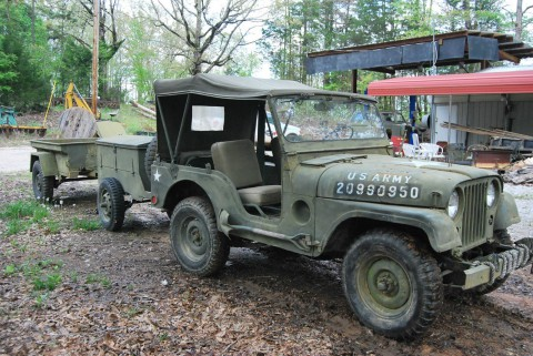 1953 Jeep Willys Military Jeep WII, 2 Trailers na prodej