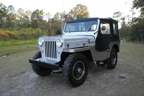 1954 Jeep Willys CJ-3 High Hood 2.2L CJ3 na prodej
