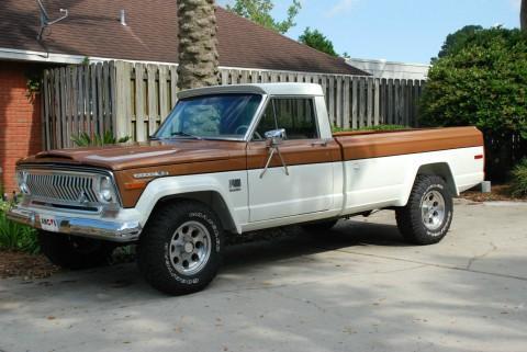 1973 Jeep J-4000 pickup truck na prodej