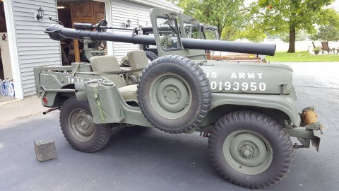 1952 Jeep with 106mm recoilless rifle na prodej