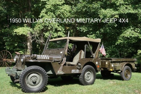 1950 Jeep Willys BUILT WITH WATERPROOF ENGINE AND 24V EL na prodej