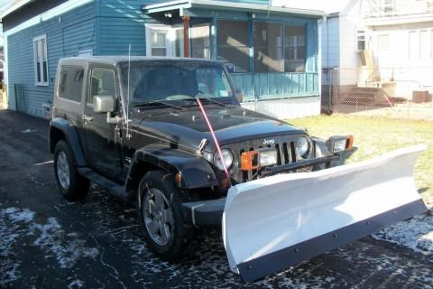 2008 Jeep Wrangler Sahara with Blizzard snowplow na prodej