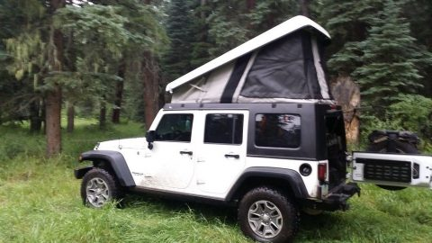 2014 Jeep Wrangler with Ursa Minor Pop Top camper na prodej