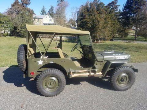 1952 Willys M38 Military Jeep na prodej