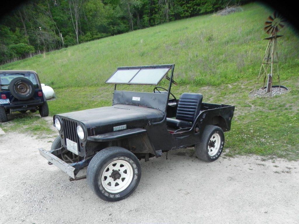 1945 jeep willys overland cj2a na prodej. Black Bedroom Furniture Sets. Home Design Ideas