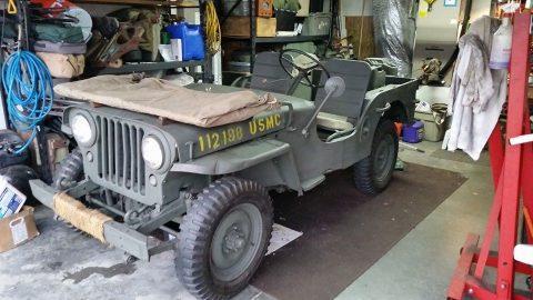 1946 Willys CJ2A Military Olive Drab na prodej