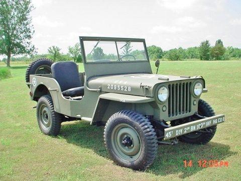 1947Jeep Willys CJ Military na prodej