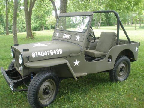 1950 Willys 1950 jeep cj3a Militray style na prodej
