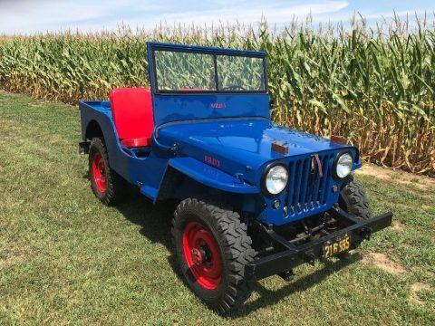 1946 Willys CJ2A Jeep na prodej