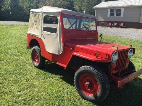1951 Jeep Willys CJ3A/451GB na prodej