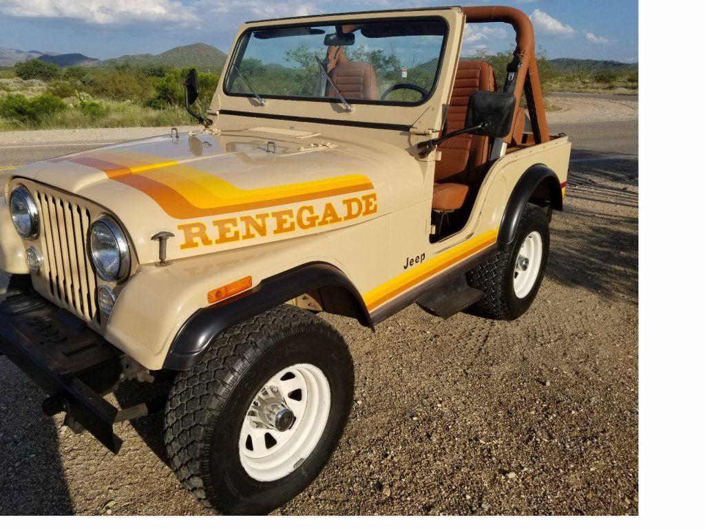 Jeep Wrangler Seats >> 1981 Jeep CJ5 Renegade na prodej