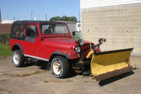 1983 Jeep CJ Renegade Plow na prodej
