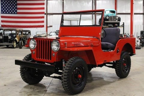 1948 Willys Jeep CJ-2A Red Jeep 2.2L Manual na prodej
