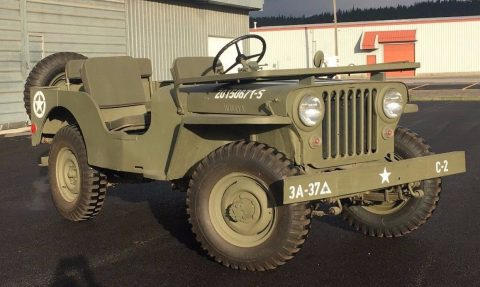 1947 CJ2A Jeep Willys Painted in the colors of 3rd Army 37th Battalion na prodej
