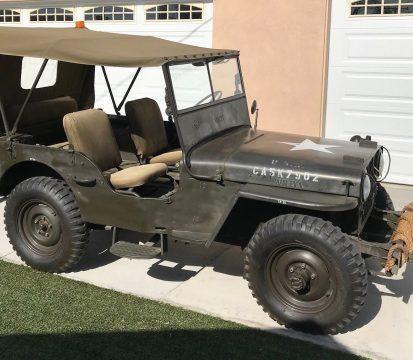 1946 Willys CJ2A Jeep 4×4 na prodej