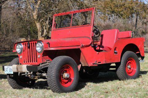1948 Willys Overland CJ2A Civilian Jeep na prodej