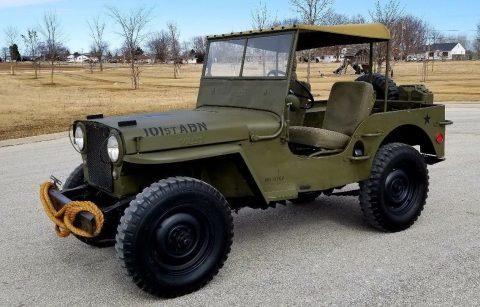 1948 Jeep Willys CJ2A 101st Airborne Military Paint na prodej