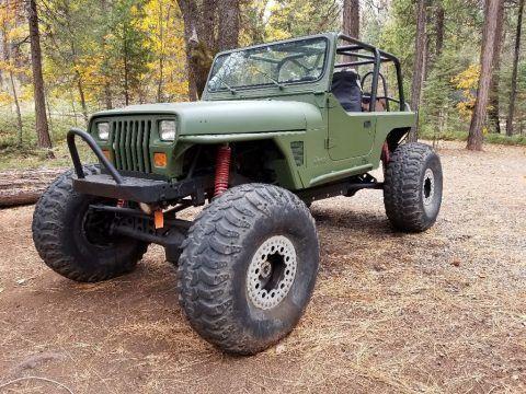 1995 Jeep Wrangler YJ Rock Crawler project na prodej