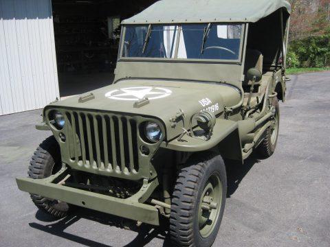 1943 Willys MB WWII Military na prodej