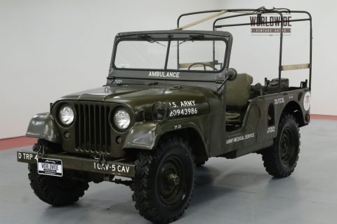 1954 Jeep M170 RARE LONG Wheel BASE Rebuilt Drive Train 4×4 na prodej