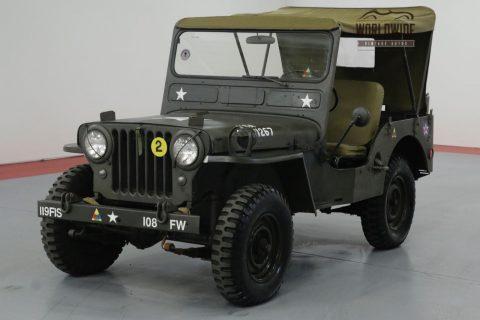 1952 Jeep Willys Cj3a. M38 MILITARY. na prodej