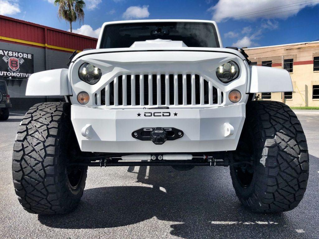2018 Jeep Wrangler Custom Lifted Sahara White OUT Leather HARDTOP