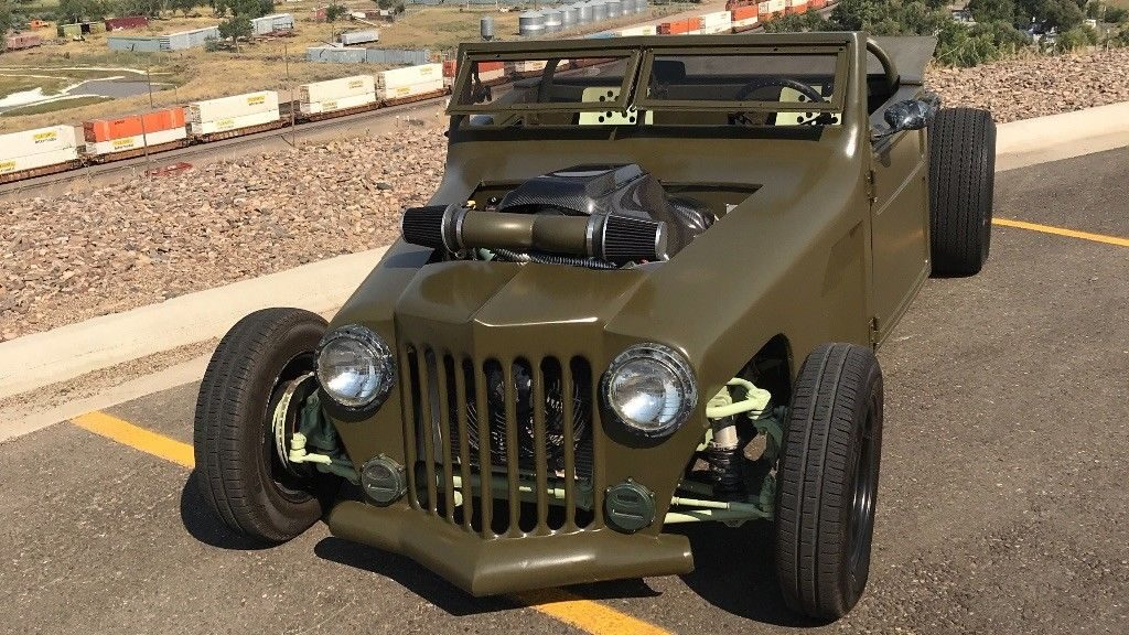 1952 Jeep Willys hot rod rat rod custom