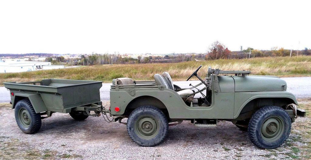 1968 Jeep CJ Military jeep and M416 trailer