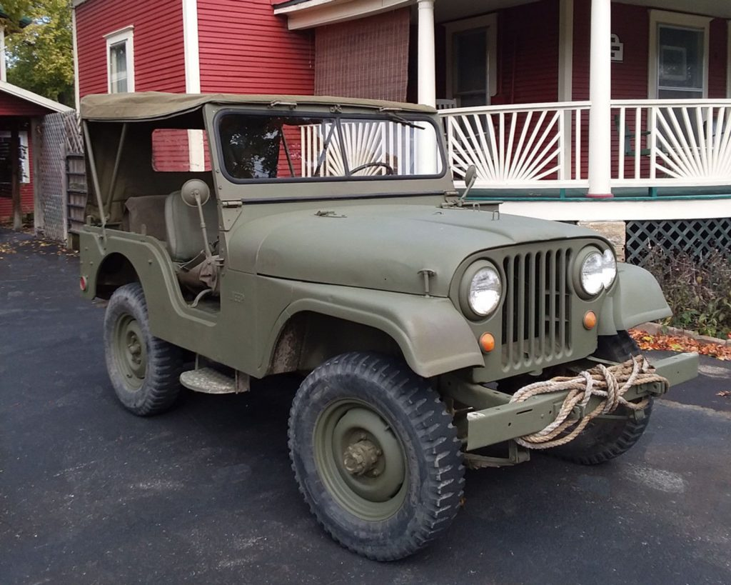 1968 Jeep CJ Military jeep and M416 trailer