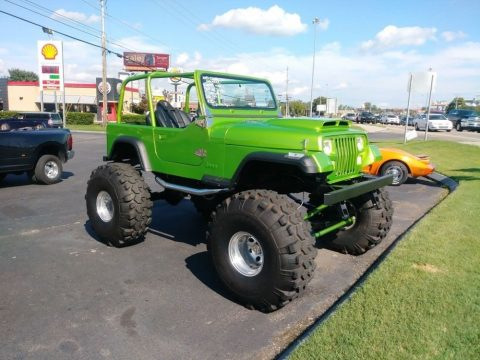 1992 Jeep YJ  LIME Green 4X4 Frame OFF Restoration Coyote ENGIN na prodej