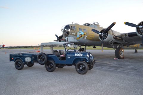 1958 Willys Jeep CJ-5  US Navy and M100 Trailer na prodej
