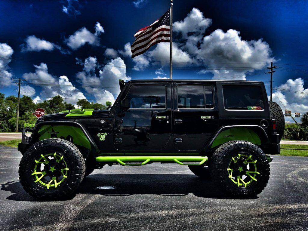 2018 Jeep Wrangler Rubicon Custom Lifted 37″ Nittos Leather DV8 OCD