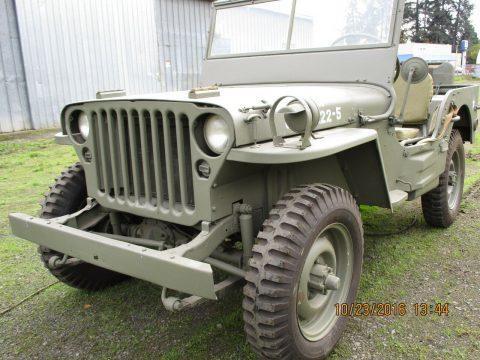 1942 Jeep MB3 na prodej