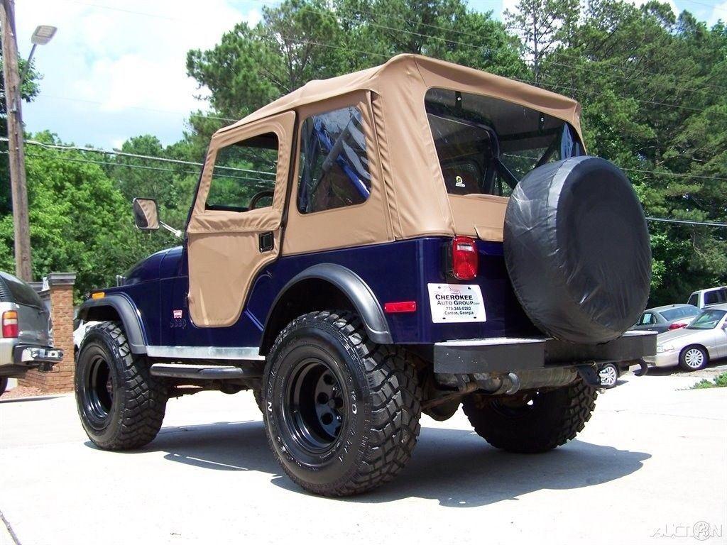 1980 Jeep CJ 4X4 CJ 7 LEVI TRIM PKG 2.5L 4CYL 4 SPD Restored Driver TRAIL