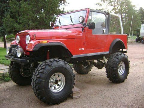 1984 Jeep CJ7 ifted on 38's na prodej