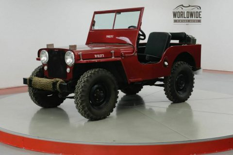 1947 Jeep Willys CJ2A Original Civil Defense JEEP na prodej