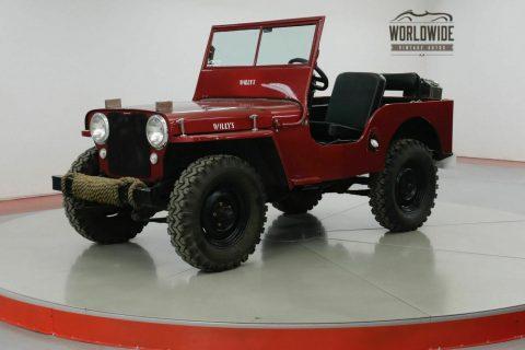 1947 Jeep Willys CJ2A Original Civil Defense JEEP na prodej