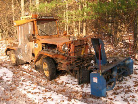1975 Jeep CJ Loader  / Snowblower na prodej