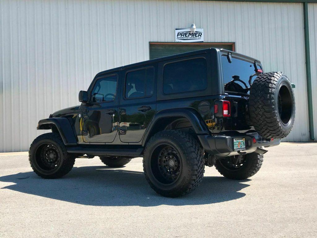 "2019 Jeep Wrangler JL Lifted Black Rhino Wheels 35""s LED's"