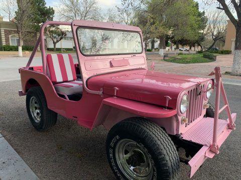 1952 Willys PINK Jeep! na prodej