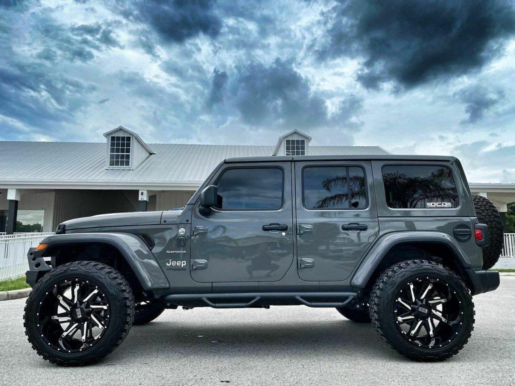 2020 Jeep Wrangler Custom Turbo Sahara Leather NAV Hardtop 35″s