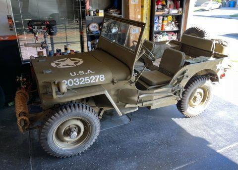 1943 Jeep Willys MB na prodej